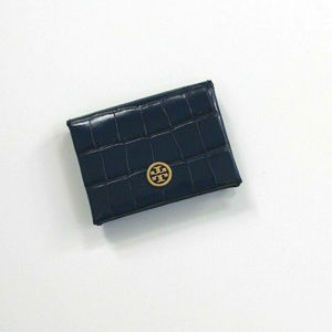NWOT Tory Burch Parker Croc-Embossed Leather Navy